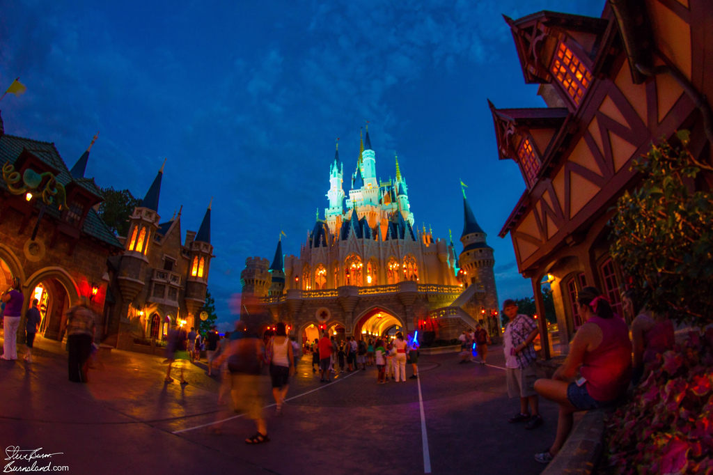 Cinderella Castle at Night 2012