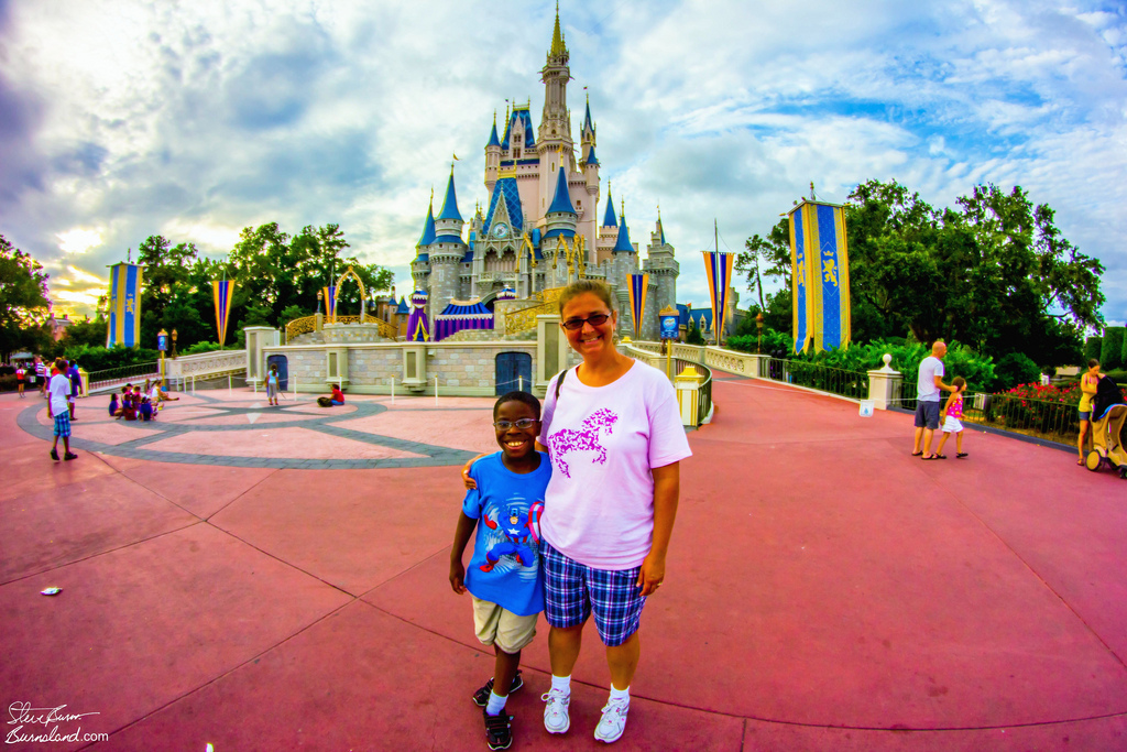 Family at Cinderella Castle 2012