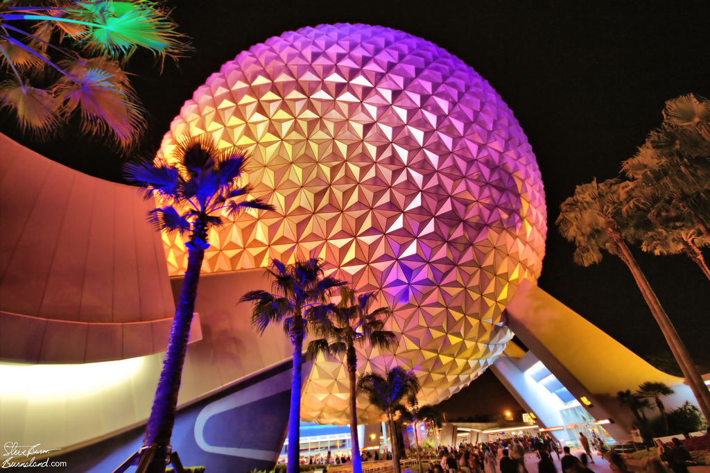 Spaceship Earth at night 2011