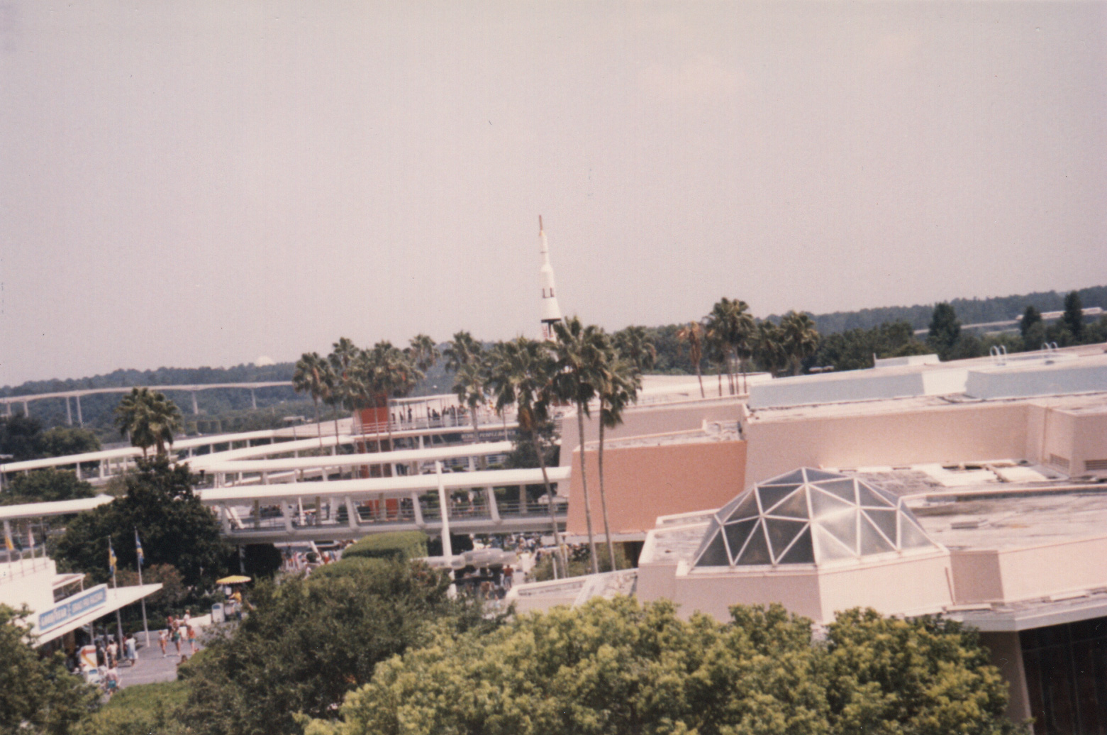 Magic Kingdom Tomorrowland rooftops