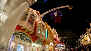 Main Street at Walt Disney World at Chrsitmas