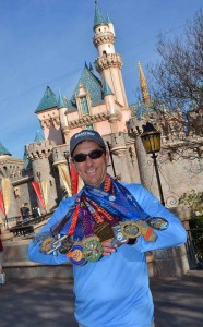 Matt with his RunDisney medals